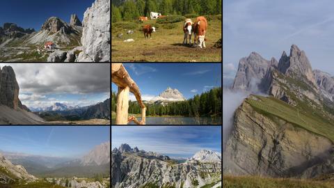 4k UHD Dolomites Alps Montage 11596 stock footage