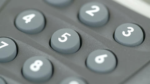Number pins of a calculator Footage