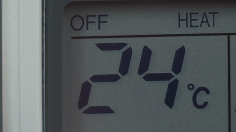 Temperature of celcius is dropping down Footage