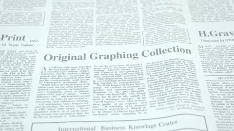 The black prints on the newspaper Footage