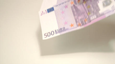 Four Euro bills from an envelope Live Action