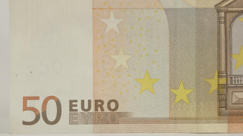 Back detail of a 50 Euro bill Live Action