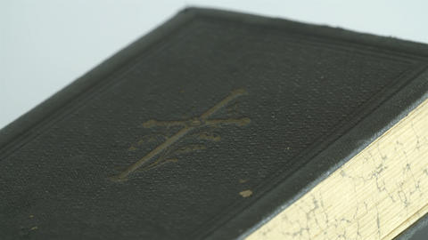The detail of the bibles cover Footage