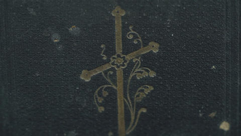 The cover detail of the bible Footage