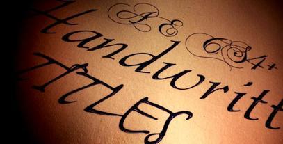 Handwritten Art Titles - AE CS4 After Effects Project