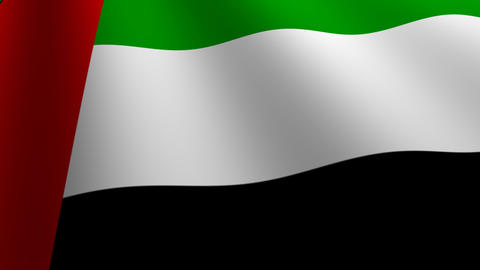 United Arab Emirates flag loop Flags flags nation country... Stock Video Footage