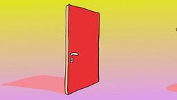 THE DOOR Stock Video Footage