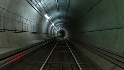 Subway Tunnel A HD Animation