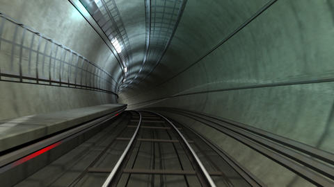 Subway Tunnel A HD Stock Video Footage