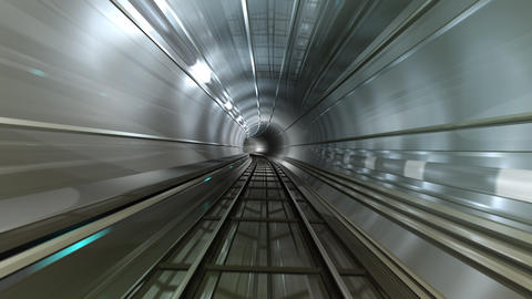 Subway Tunnel B HD Animation
