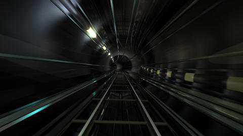 Subway Tunnel C HD Animation