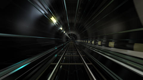 Subway Tunnel C HD Stock Video Footage