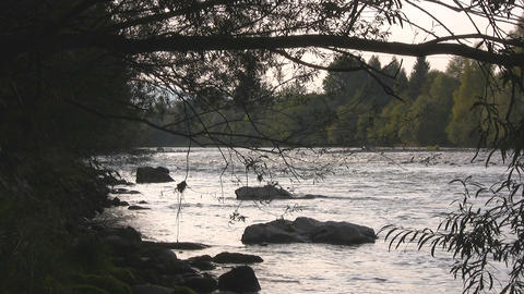 Mountain river - nat. sound Stock Video Footage