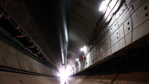 Tunnel construction 009 Stock Video Footage