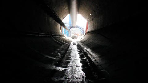 Tunnel construction 012 Stock Video Footage