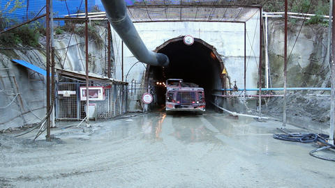 Tunnel construction 003 Stock Video Footage