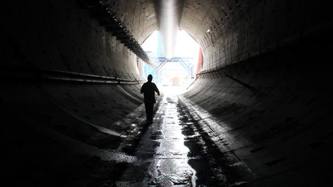 Tunnel construction 008 Stock Video Footage