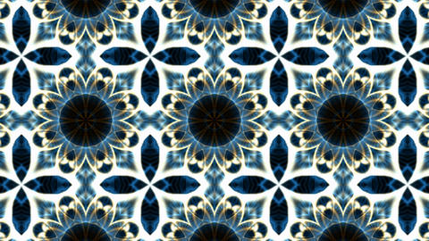 blue flower lotus fancy pattern,kaleidoscope,oriental religion texture,Buddhism Mandala Animation