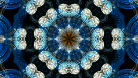 blue flower lotus fancy pattern,kaleidoscope,oriental religion texture.Buddhism Mandala flower,orien Animation