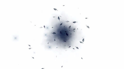 footage of blue smoke,fragment,explosion.petal,particle,material,texture,Fireworks,fire,flame,gas Animation