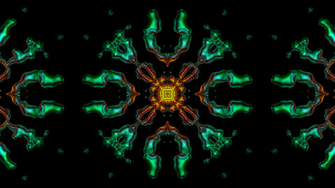 metal flower lotus pattern in dark background.Buddhism Mandala flower,kaleidoscope,oriental religion Animation