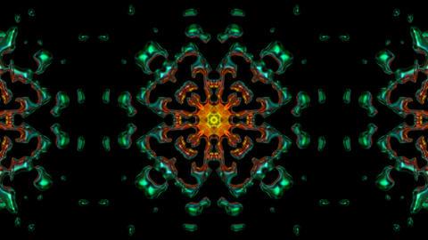 metal flower lotus pattern in dark background.Buddhism... Stock Video Footage