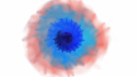 animation of color smoke,watercolor... Stock Video Footage