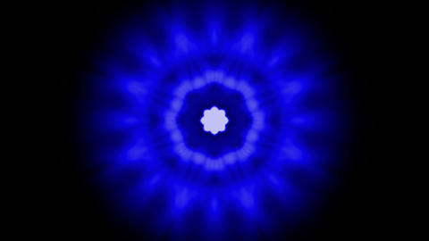 animation of blue fancy light,Buddhism Mandala... Stock Video Footage