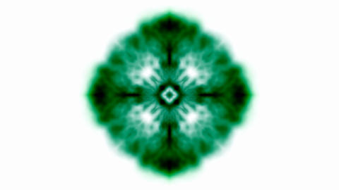 Dark green flower pattern and ray,watercolor... Stock Video Footage