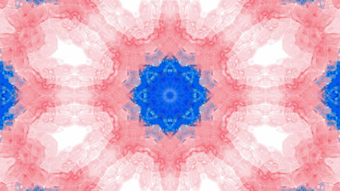 Animation of pink flower lotus pattern,orient watercolor... Stock Video Footage