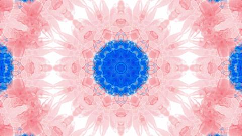Animation of pink flower lotus pattern,orient watercolor style fancy.Buddhism Mandala flower,kaleido Animation