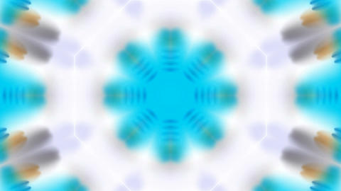 blue rotation flower lotus pattern,kaleidoscope,watercolor style fancy.Buddhism Mandala flower,kalei Animation