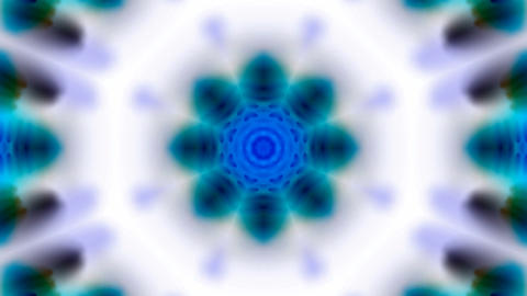 blue rotation flower lotus... Stock Video Footage