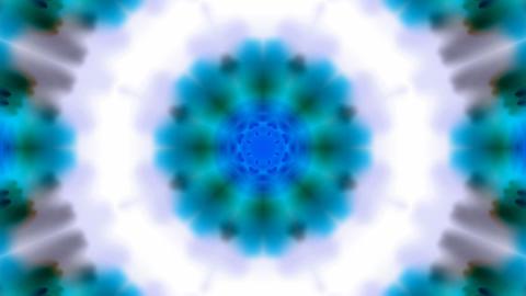 blue rotation flower lotus... Stock Video Footage