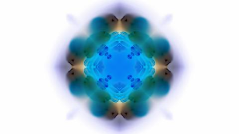 blue flower lotus pattern,kaleidoscope,gorgeous oriental... Stock Video Footage
