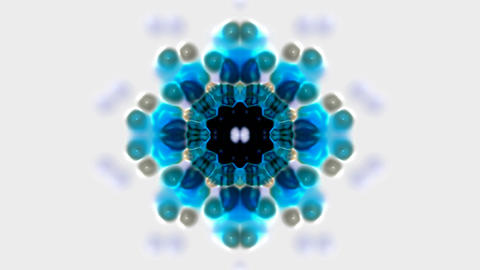 blue flower lotus pattern,kaleidoscope,gorgeous oriental... Stock Video Footage