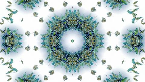 blue butterfly circle pattern and smoke.lotus,Buddhism... Stock Video Footage