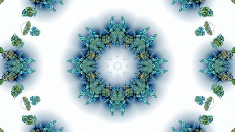 blue butterfly circle pattern and smoke.lotus,Buddhism Mandala flower,kaleidoscope,oriental religion Animation