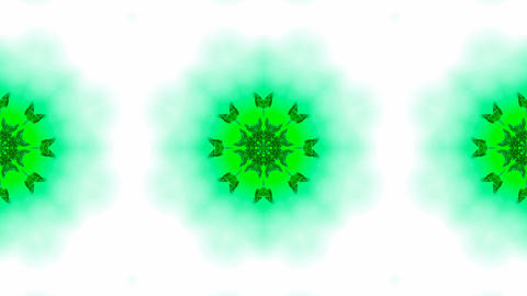 green butterfly circle pattern and smoke.lotus,Buddhism... Stock Video Footage