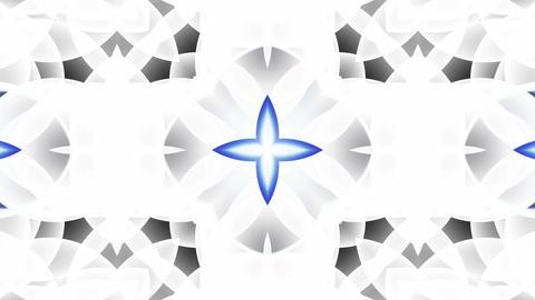 blue glass flower lotus fancy pattern.Buddhism Mandala... Stock Video Footage