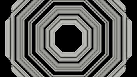 3d gray metal hexagon,computer tunnel... Stock Video Footage