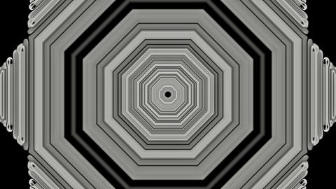 3d gray metal hexagon,computer tunnel... Stock Video Footage