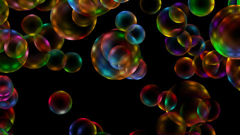 Animation of color disco balls or bubble,waterdrop and... Stock Video Footage