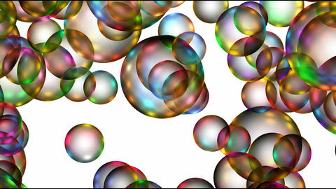 Animation of color balls or bubble,disco... Stock Video Footage
