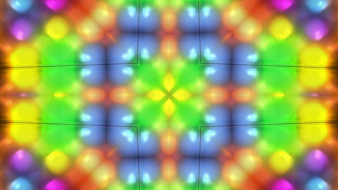 color disco flower lotus pattern,orient fancy... Stock Video Footage