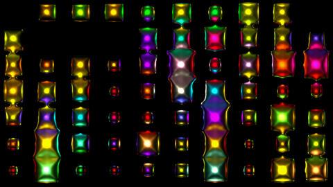 3d metal disco neon... Stock Video Footage