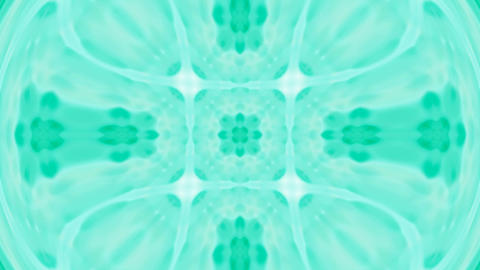 green deform flower lotus pattern.Buddhism Mandala... Stock Video Footage