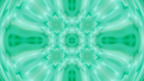green deform flower lotus pattern.Buddhism Mandala... Stock Video Footage