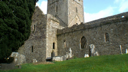 Jerpoint Abbey 2 Stock Video Footage