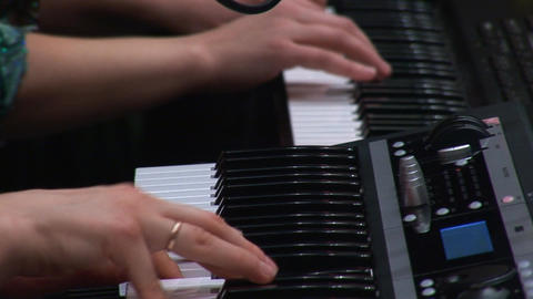 keyboards 2 hands 2 Stock Video Footage